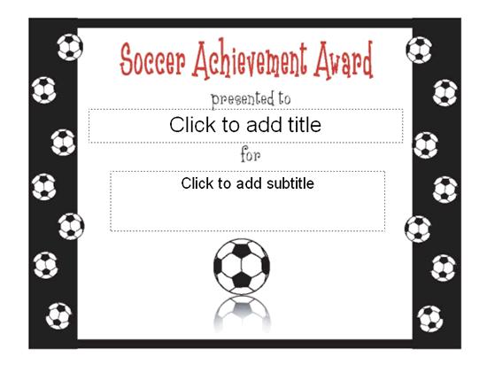 Soccer Award Certificate Template 9