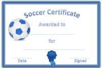 Soccer Certificate Template 12