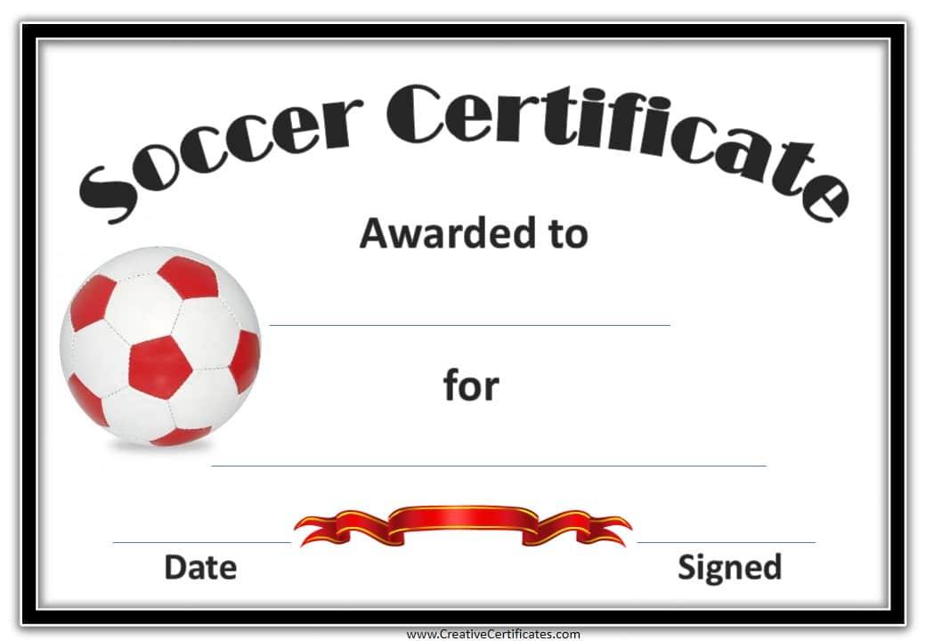 Soccer Certificate Template 2