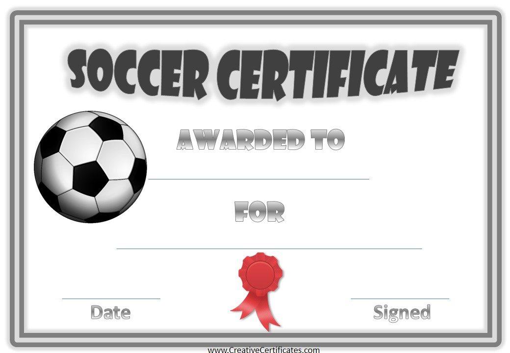Soccer Certificate Template 4