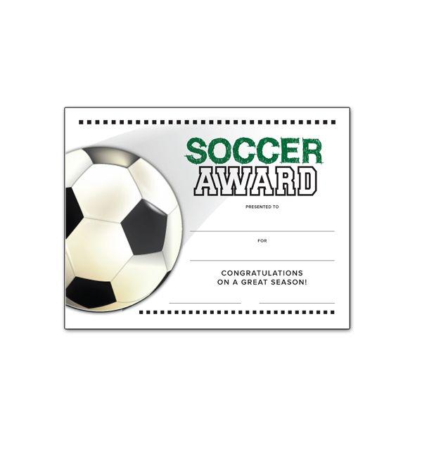 Soccer Certificate Template 6