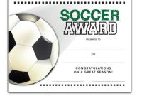 Soccer Certificate Template Free 10