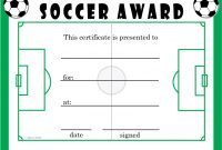 Soccer Certificate Template Free 11