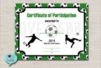 Soccer Certificate Template Free 12