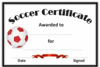 Soccer Certificate Template Free 2
