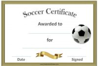 Soccer Certificate Template Free 4