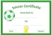 Soccer Certificate Template Free 5