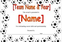Soccer Certificate Template Free 6