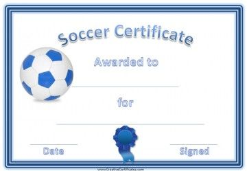 Soccer Certificate Template Free 8