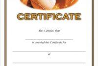 Softball Certificate Templates 10
