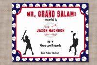 Softball Certificate Templates 11