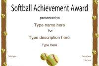 Softball Certificate Templates 3