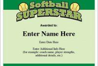Softball Certificate Templates 5
