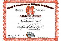 Softball Certificate Templates 6