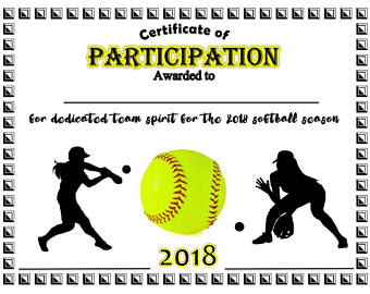 Softball Certificate Templates 7