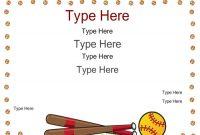 Softball Certificate Templates 8