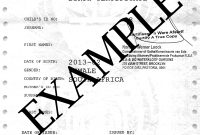 South African Birth Certificate Template 4