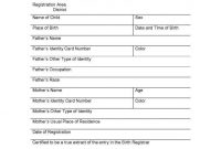 Spanish to English Birth Certificate Translation Template 6