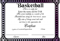Sports Award Certificate Template Word 10