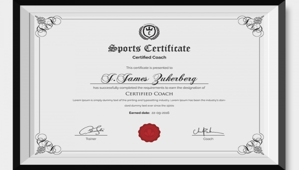 Sports Award Certificate Template Word 11