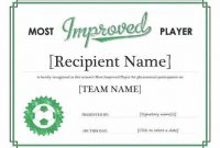 Sports Award Certificate Template Word 3