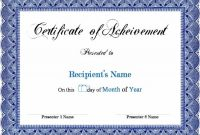 Sports Award Certificate Template Word 5