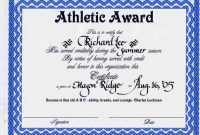 Sports Award Certificate Templates For Word Affordable