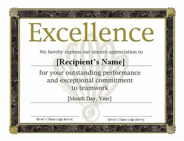 Sports Award Certificate Template Word 6