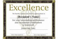 Sports Award Certificate Template Word 8