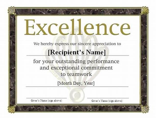 Sports Award Certificate Template Word 8