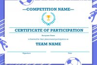 Sports Award Certificate Template Word 9