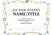 Star Certificate Templates Free 2