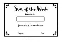 Star Of the Week Certificate Template 11