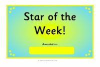 Star Of the Week Certificate Template 2