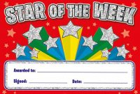 Star Of the Week Certificate Template 4