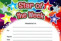 Star Of the Week Certificate Template 5