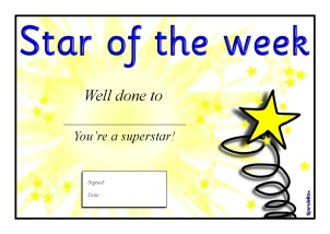 Star Of The Week Certificate Template 8