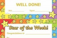 Star Of the Week Certificate Template 9