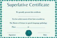 Superlative Certificate Template 6