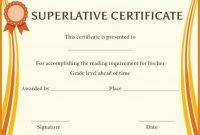 Superlative Certificate Template 8
