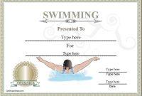 Swimming Award Certificate Template 10