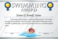 Swimming Award Certificate Template 11