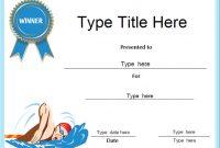 Swimming Award Certificate Template 3