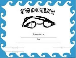 Swimming Award Certificate Template 5