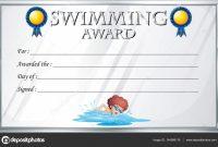 Swimming Award Certificate Template 7