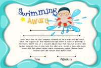 Swimming Award Certificate Template 9