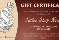 Tattoo Gift Certificate Template 10
