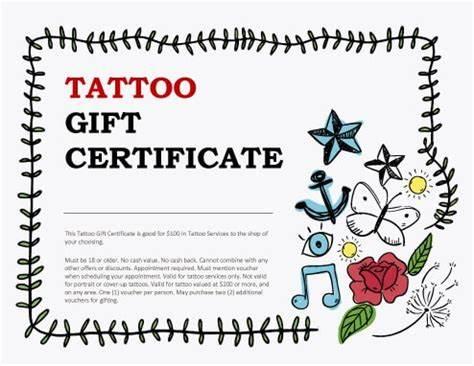 Tattoo Gift Certificate Template 4