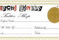 Tattoo Gift Certificate Template 7