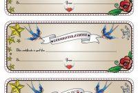 Tattoo Gift Certificate Template 8